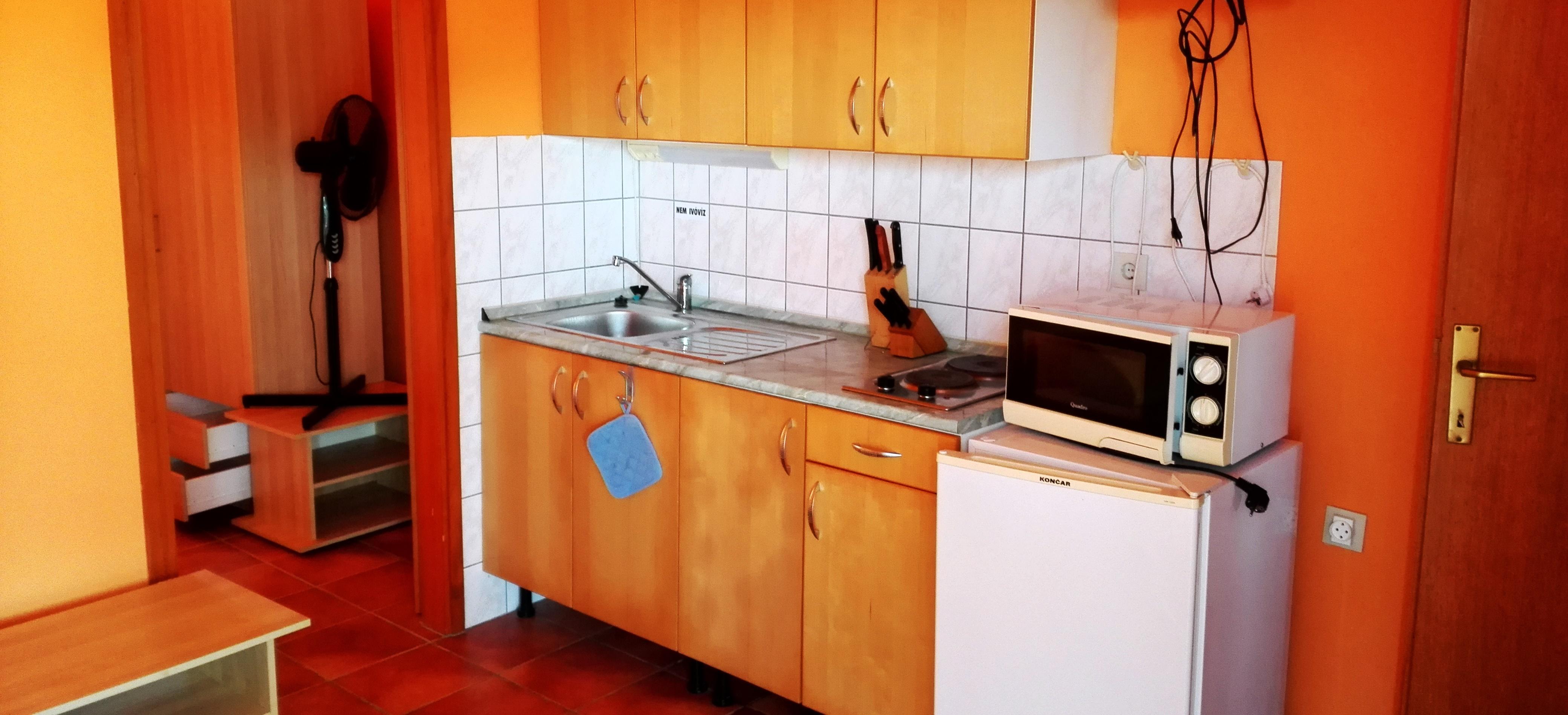 Vir szigeti apartman konyha
