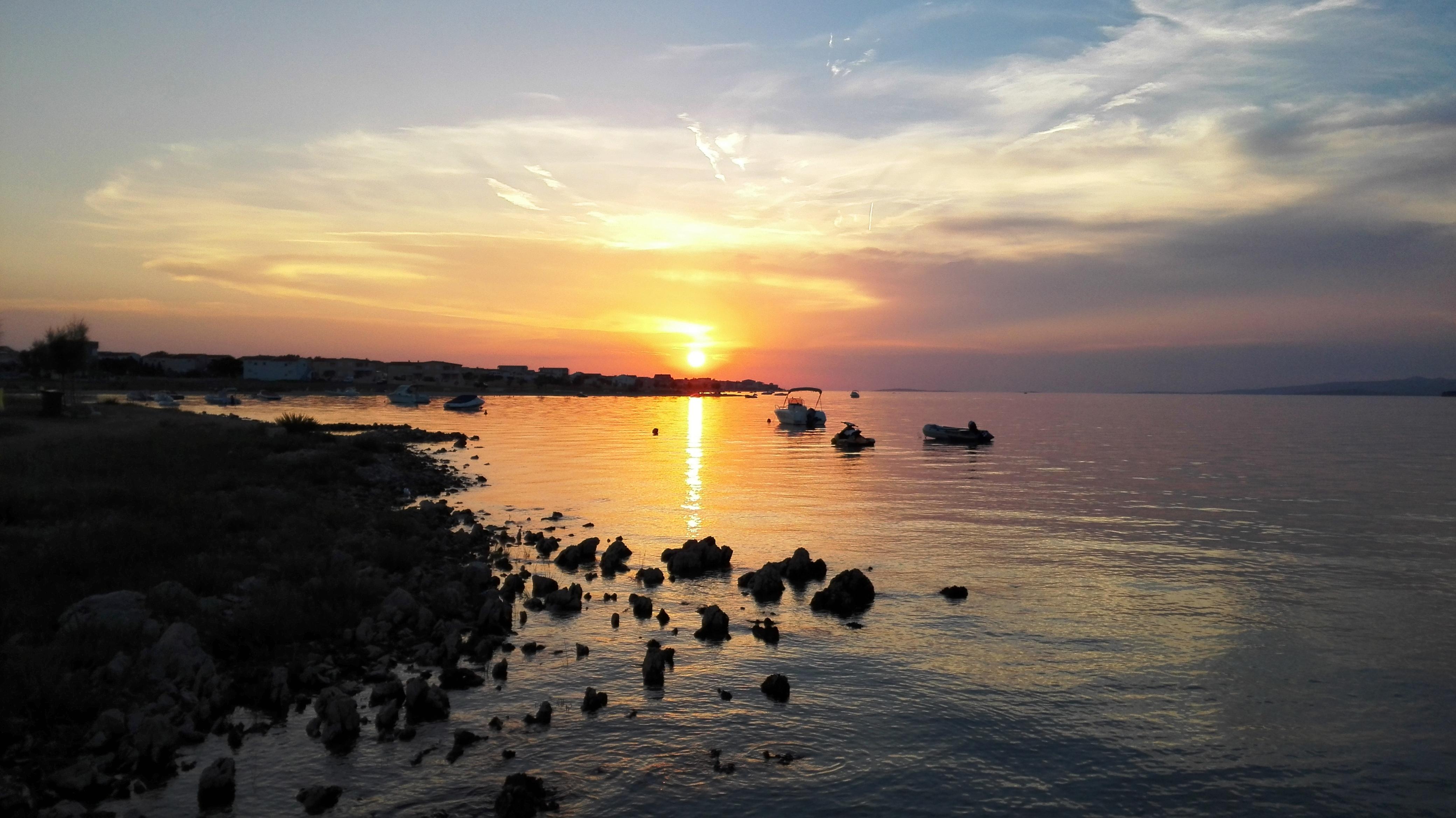 Vir szigeti naplemente